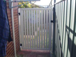 white garden door